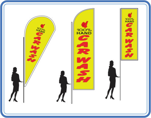 100% hand car wash flags, great for Car wash's Flags Banners UK 4
