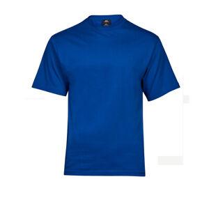 T-Shirt-blanko-royal-blau-mit-Rundhalsausschnitt-100-Baumwolle-ohne-Aufdruck