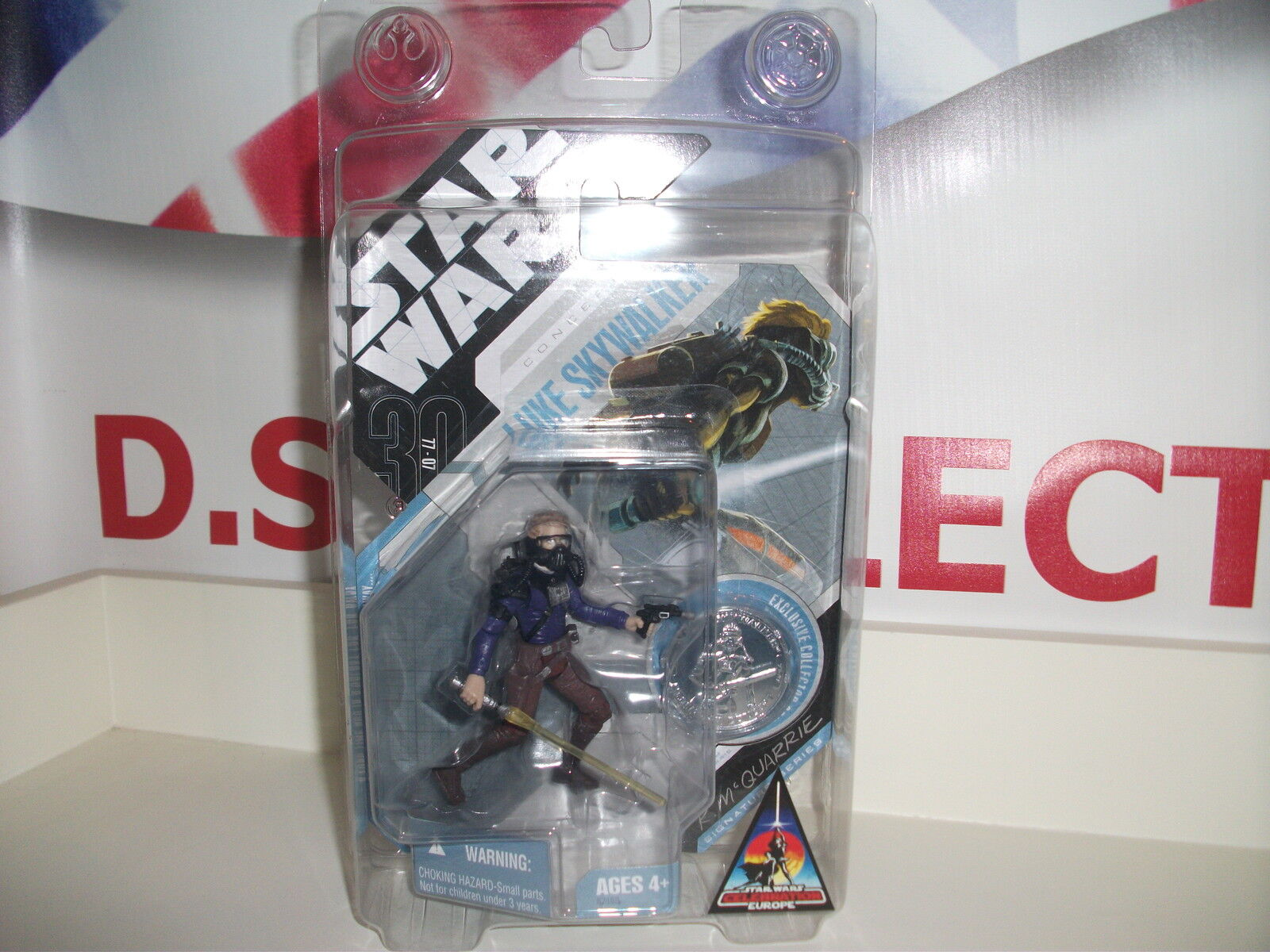 Star wars LUKE SKYWALKER CONCEPT FIGURE with coin, BRAND NEW postage discount