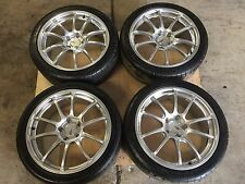 "JDM Subaru WRX STi Ver 8 9 Yokohama Advan Racing Wheels 18"" 5x114.3 Rims Advan"