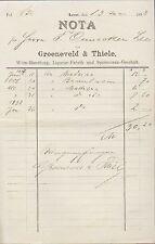 LEER (OSTFRIESLAND), Rechnung 1898, Likör-Fabrik Groeneveld & Thiele