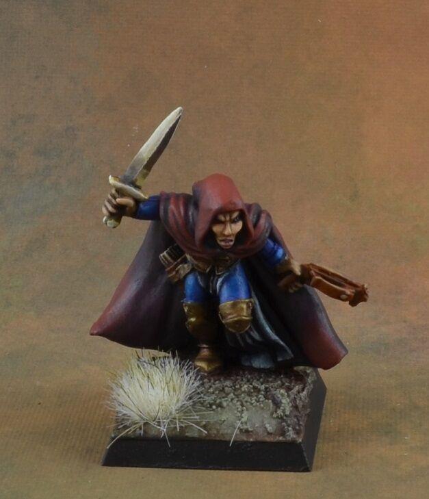 Pintado Reaper Miniature Elf ladrón con ballesta, carácter D&D Pathfinder