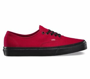 4676879bc343 VANS Authentic (Black Sole) Jester Red Men s Outsole Skate Shoes NEW ...