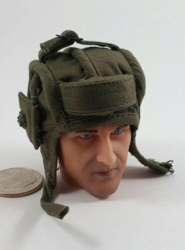 Alert Line WWII Red Army Tank Corps Tanker Helmet 1//6 toys soviet Russian Green