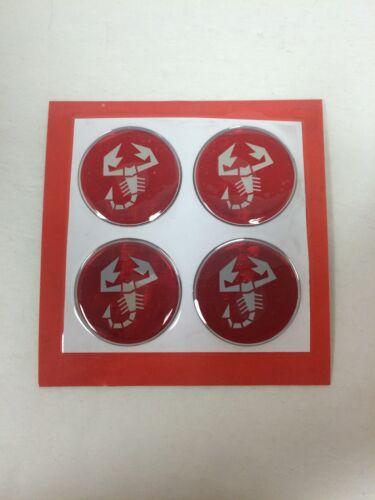 43mm Abarth Fiat Wheel Center Emblem Set of 4 Wheel Center Cap Emblems NEW #766A