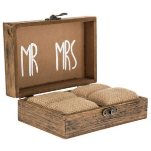 Ring Bearer Box Rustic Wedding Ring Holder Box Ring Bearer Pillow