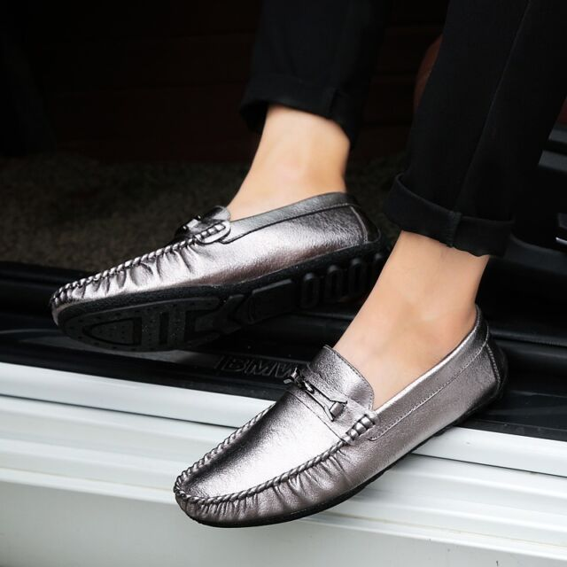 Fashion British Men's Casual Moccasins Driving Flats Loafer Leather Shoes JH79