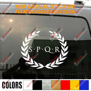 Sticker flag car shield airsoft decal spqr coat of arms roman legions rome ra2