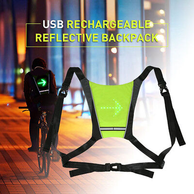 Cycling Bike Reflective Safety Vest Outdoor LED Wireless Turn Signal Light Vest