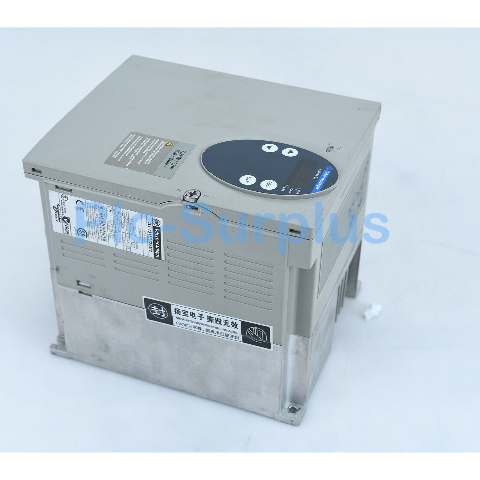 1PC Used Schneider inverter ATV31 2.2KW 200V//240V 3HP ATV31HU22M2A Tested Fully
