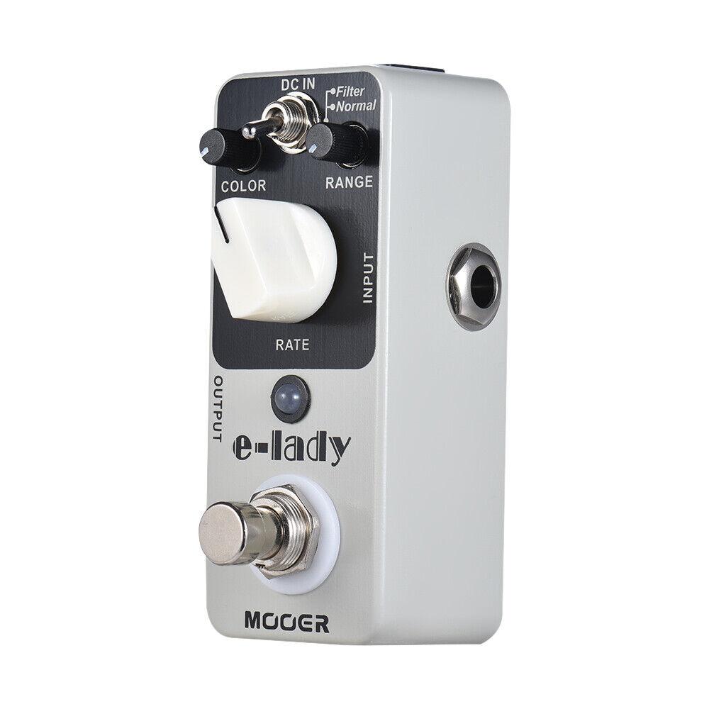 MOOER e-lady Analog Flanger Guitar Effect Pedal 2 Modes True Bypass Full D1O8