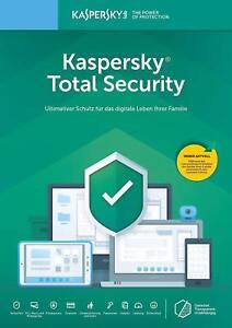 Kaspersky Total Security 2019 1PC, 2PC, 3PC oder 5PC / Geräte (1 und 2 Jahre )