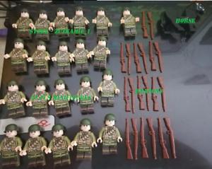 22Pcs-Lego-moc-militaire-United-States-Infantry-Minifigures-SOLDATS-CHEVAL-ARME