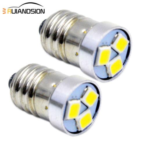 2pcs 3030Chip 3SMD DC3V E10 LED 6000K 120lm For Flashlight Torch Lamp Light Bulb