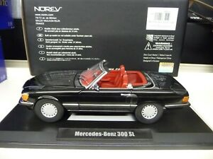1-18-norev-mercedes-300sl-w107-Black-Limited-Edition-1000-pieces-nuevo-New