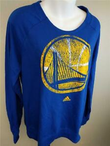 New Golden State Warriors Womens Sizes S-L Adidas Long Sleeve Sweatshirt