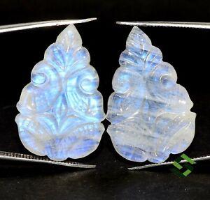 Rainbow Moonstone Carving Natural Semi Precious Gemstone