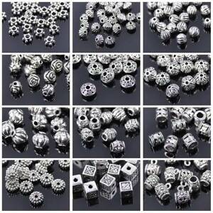 50pcs-Tibetan-Silver-Metal-Charms-Loose-Spacer-Beads-Wholesale-Jewelry-Making