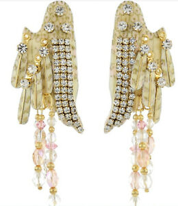 384a98635ee39 Lunch at the Ritz Angel Feather Wings Crystal Beads & Rhinestones ...