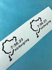 2x Nurburgring Your Best Lap Time Aufkleber Window Bumper Sticker Vinil 188