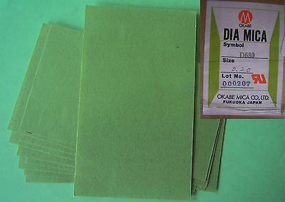 LAMINATED MICA HEAT RESISTANT INSULATION (10 SHEETS)