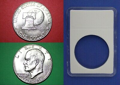 1976 S Type 2 Proof Clad Eisenhower Dollar Ike Combined Shipping With 2x2 Snap