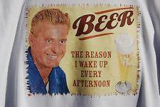 retro art vintage mens t shirt ,S,M,L,XL, cotton   Beer The Reason