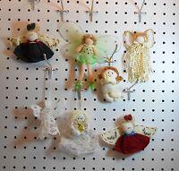 Angel & Cherub Ornaments - Tassle, Felt & Crochet - Set Of 7