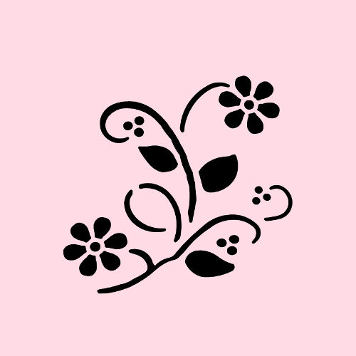 wildflower stencil flowers paint art craft flower template by