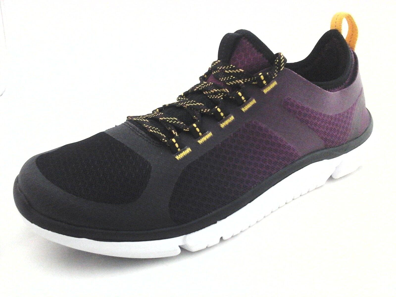 CLARKS Zapatillas Triken Ciruela Negro Zapatos para hombres Active's US 9.5 Nuevo