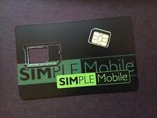 PREPAID Simple Mobile MICRO Sim Card for Unlocked Apple iPhone/Samsung/Nexus