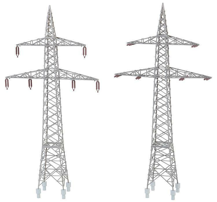 Faller 130898 130898 130898 H0, 2 Freileitungsmasten (110KV), Strommasten, Bausatz 9bb008