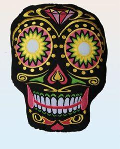 Farben Dekokissen Totenkopf Coloured Skull Kissen Day of the Dead versch