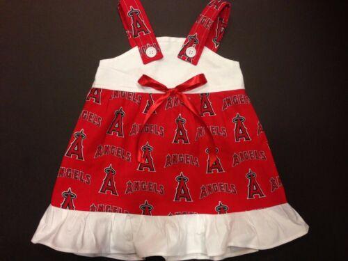 MLB Anaheim Los Angeles Angels Baby Infant Toddler Girls Dress *YOU PICK SIZE*