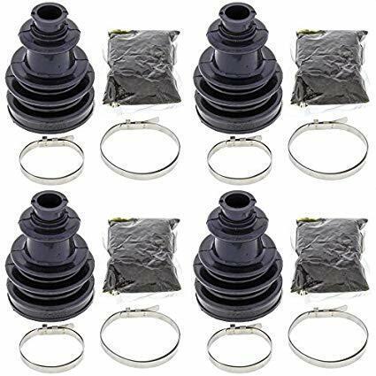 Complete Front Inner /& Outer CV Boot Repair Kit for Polaris Ranger 4x4 400 2010