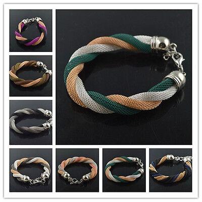 Metal Hollow Chain Style Wristband Women's Girl's Bracelet Bangle Cuff Gift 2014