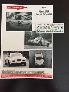 DECALS-1-43-ALPINE-RENAULT-A110-MANZAGOL-TOUR-DE-CORSE-1969-RALLY-RALLYE