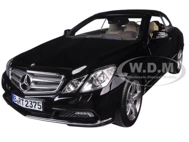2010 Mercedes E500  E Classe Cabriolet Noir 1 18 Diecast Modèle Auto Norev 183543  loisir