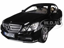 2010 MERCEDES E500 E CLASS CABRIOLET BLACK 1/18 DIECAST MODEL CAR NOREV 183543
