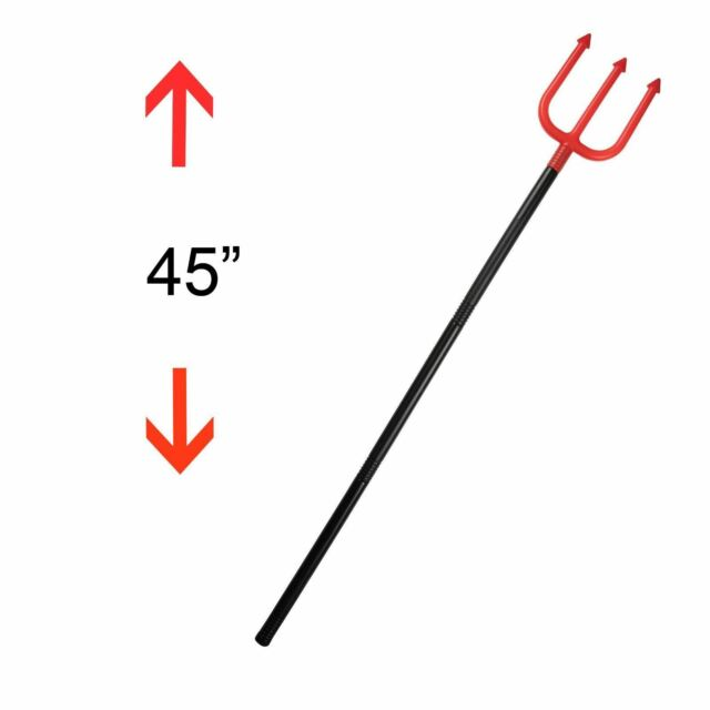large 84 cm plastic devils fork trident halloween fancy dress accessory for sale online ebay halloween large devil fork 40 4 parts trident pitchfork fancy dress accessory