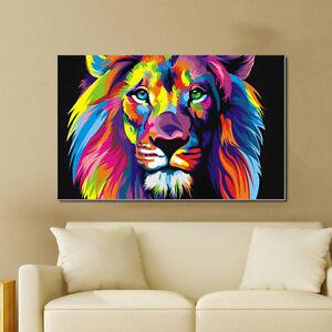 Abstract-Rainbow-Eagle-Bear-Print-Canvas-Wall-Art-Decor-Unframed-Oil-Painting
