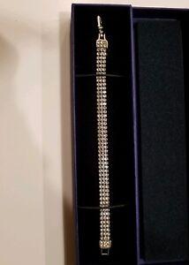 Details about Swarovski Crystal 3 row crystal Bracelet 5363516