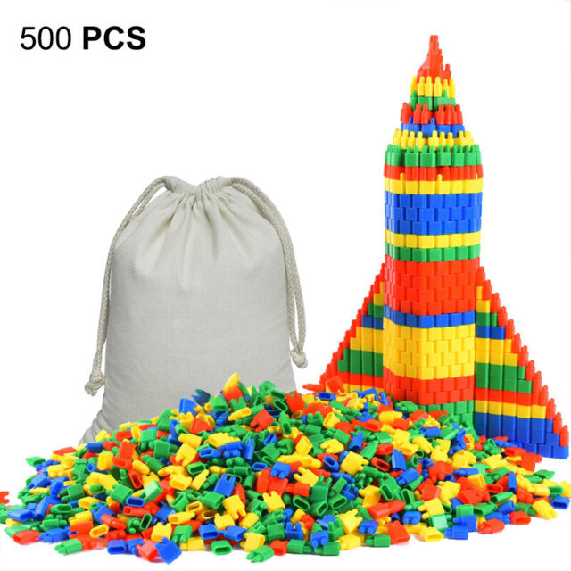 500 PCS KIDS CREATIVE TOYS FAMILY BUILDING CONSTRUCTION BRICKS BLOCK GAME GIFT