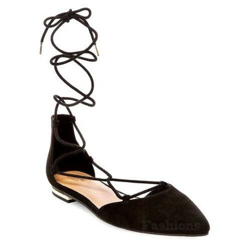 Womens Mossimo Supply Gretel D Orsay Ghillie Lace Ballet FLats Shoes NWOB C296