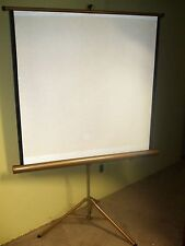 """MOVIE SCREEN WITH TRIPOD STAND RADIANT 40"""" X 40""""  4"""