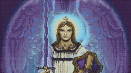 Arcangelo MICHELE # 3-Angelo della protezione /& FAITH-conteggiati x stitch chart