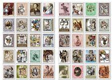 80pcs Alice in wonderland Vintage stamp Stickers Scrapbook diary Cardmaking