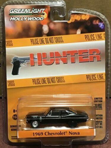 1969 Chevrolet Nova Police Hunter película TV auto RR GreenLight 1:64 nuevo