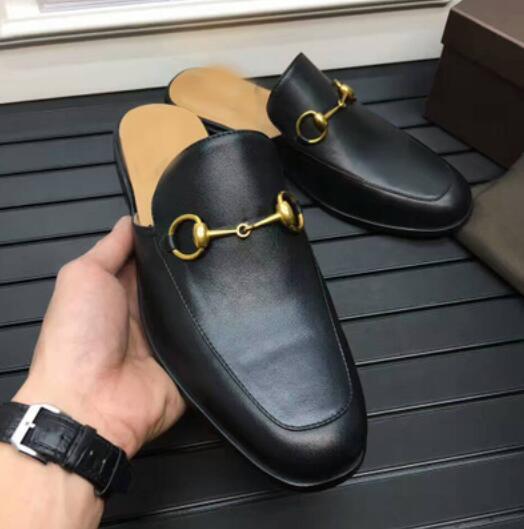 Scarpe uomo casual da uomo Scarpe  Hot uomos Slip On Backless Leather Embroidery Horsebit Slipper Casual Mules Shoes 396bd5