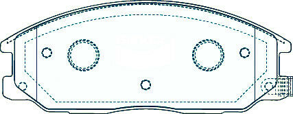 New GT DB1450 4 Pcs Front Disc Brake Pads Set For Ssangyong Hyundai